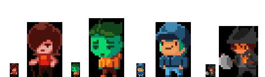 Character Design Pixel Art : Pixel art characters by ghinks on deviantart