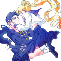 Usaseiya - Usagi x Seiya - Sailor Moon - png by AriaLacava