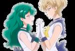 Uranus x Neptune - Sailor Moon Crystal - png II