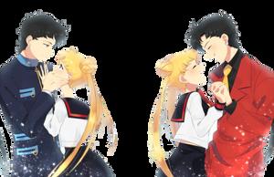 Usagi x Seiya  - Sailor Moon - png by AriaLacava