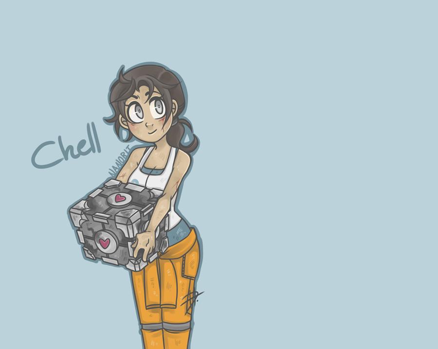 portal 2 chell. Portal 2 - Chell by *nanobit