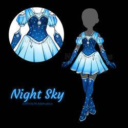 [OUTFIT ADOPT] Night sky #1 (CLOSE) by MyFuckingGod