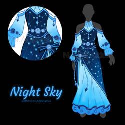[OUTFIT ADOPT] Night sky #3 (CLOSE) by MyFuckingGod