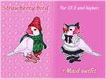 [OPEN ADOPT] Strawberry bird (auction) by MyFuckingGod