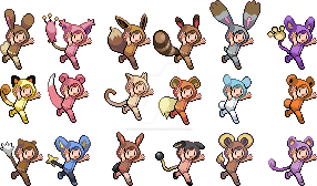 Poke Kid Fusions by joey-and-rattata