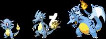 Horsea x Charmander Evolutions Fusion