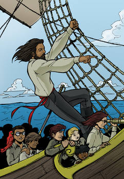 Captain Jesus on the high seas Color