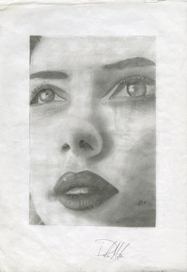 Scarlett in pencil by pmadison