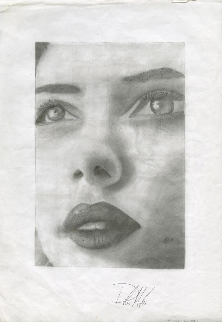 Scarlett in pencil by pmadison