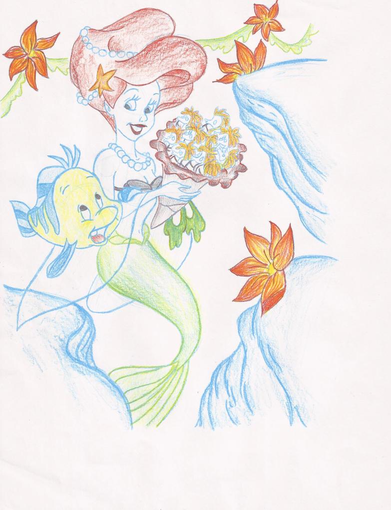 Ariel pencil sketch by pmadison