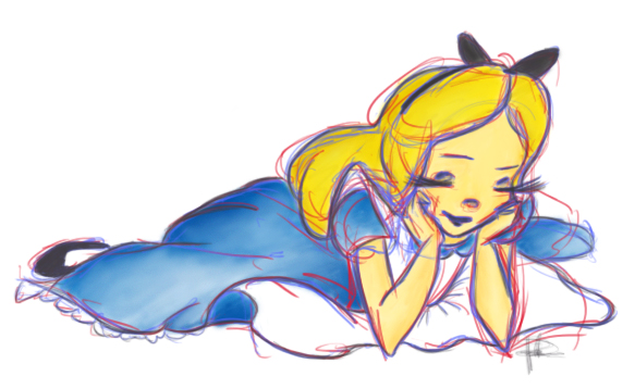Disney Sketch: Alice by pmadison