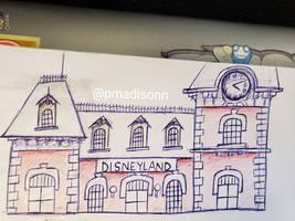 Disneyland Railroad sketch