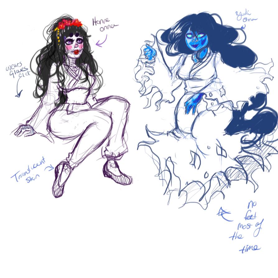 Design doodles: Monster High OCs by CosmicCherry