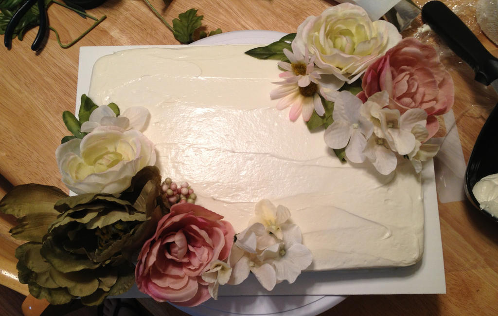 Ivory silk flower sheet cake by mandyscakesncandies on deviantart ivory silk flower sheet cake by mandyscakesncandies mightylinksfo