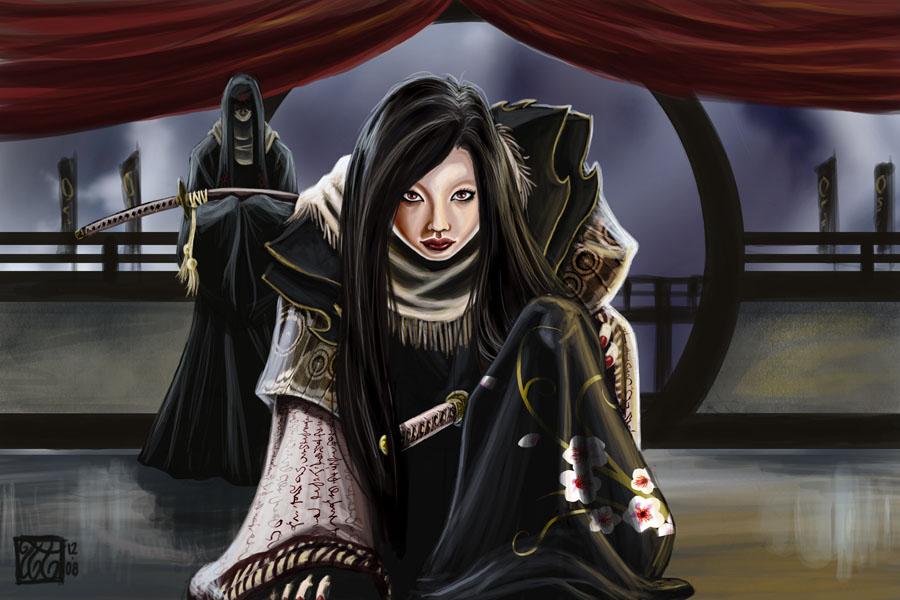L5R-Celestial-Daigotsu Setsuko by Silent-Black