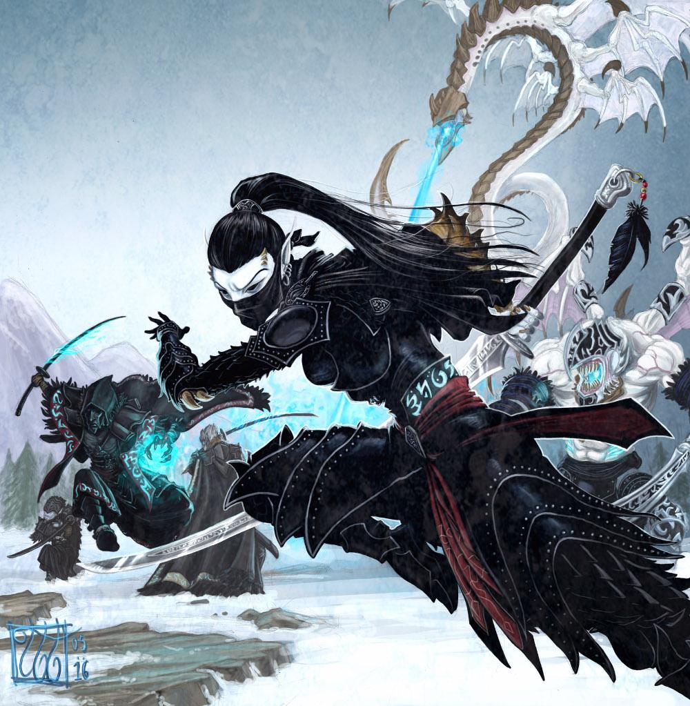 Legion of Everblight - alt.Rhyas by Silent-Black on DeviantArt