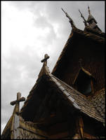 Gabled Dragons and Crosses by swandog