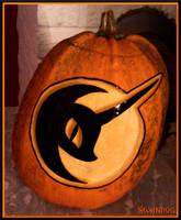 Nightmare Night Moon Pumpkin by swandog