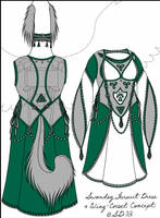 Updated--Swandog Fursuit Dress Wing Corset Concept by swandog