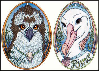 Lett and Rime Egg Badges by swandog