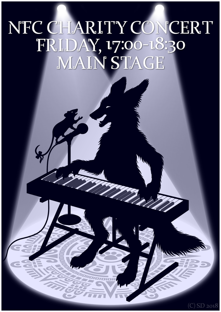 NFC Charity Concert Poster by swandog