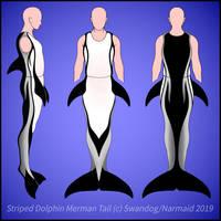 Striped Dolphin Merman Full-body Tail Ref