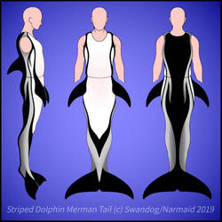 Striped Dolphin Merman Full-body Tail Ref
