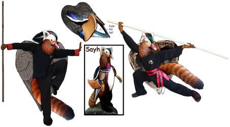 Kung Fu Panduck--fursuit idea by swandog