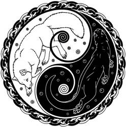 Fox and Otter Logo by swandog