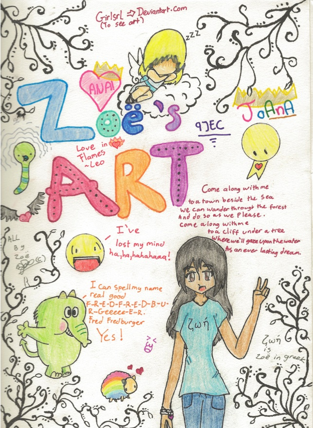 My Art Book Cover : Art book cover page by girlsrl on deviantart