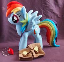 Rainbow Dash with saddle bags and whistle by Zorza-6