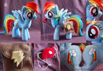 Rainbow Dash with saddle bags and whistle details