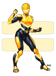 Zeo Ranger 2: Yellow by DavidFernandezArt