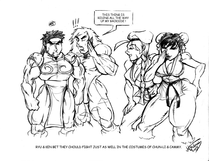 Street Fighter - Cross Dressing by martenas