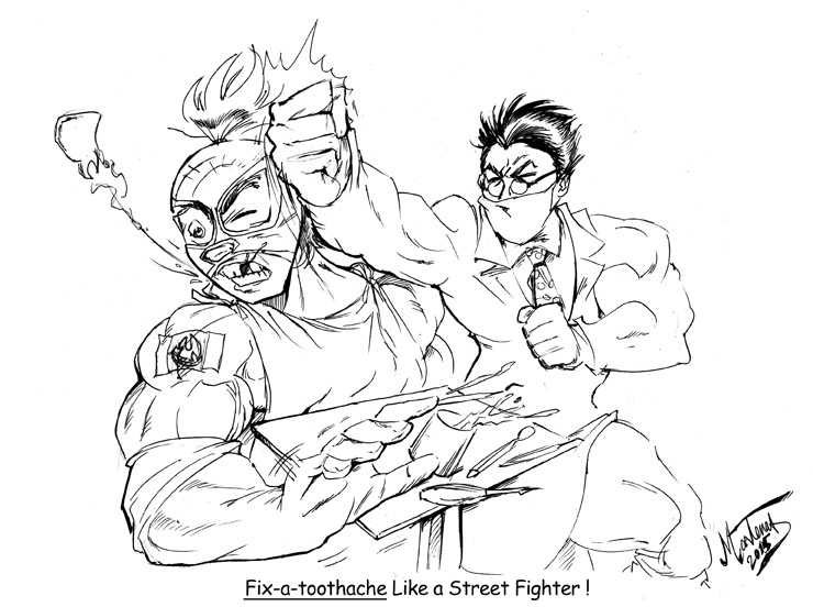 Fix-a-toothache Like a StreetFighter by martenas