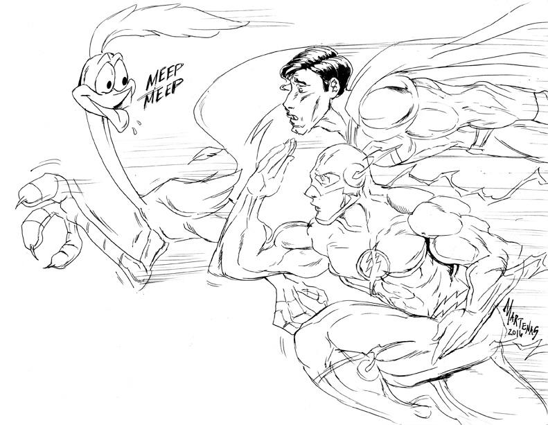 The Flash and Superman usurped by a LooneyToon!