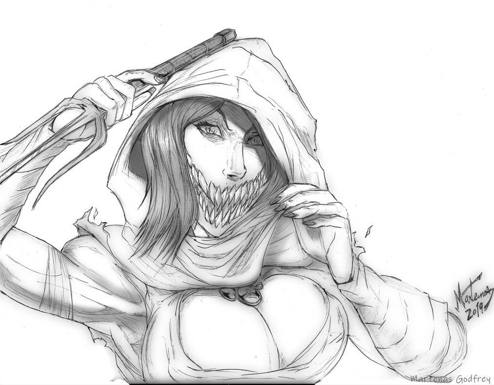 Mileena MK11 Koncept (bust) Illustration