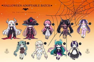 [CLOSED] HALLOWEEN Adoptable Batch set price 41 by Oreenee