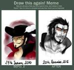 Draw This Again Meme: Mihawk fanart