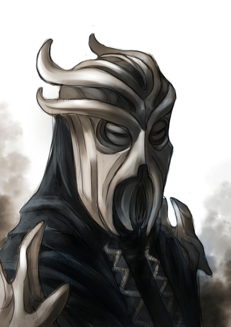 Miraak Sketch by PanzerTheTank