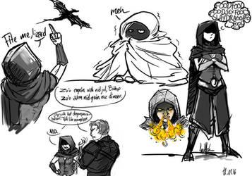 Skyrim Romance mod sketches 1 by PanzerTheTank