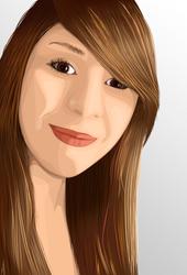 Johanna - Vector portrait by Majbot