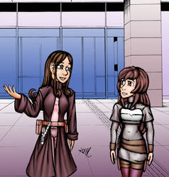 Surprise gift art: Agne and Cora.