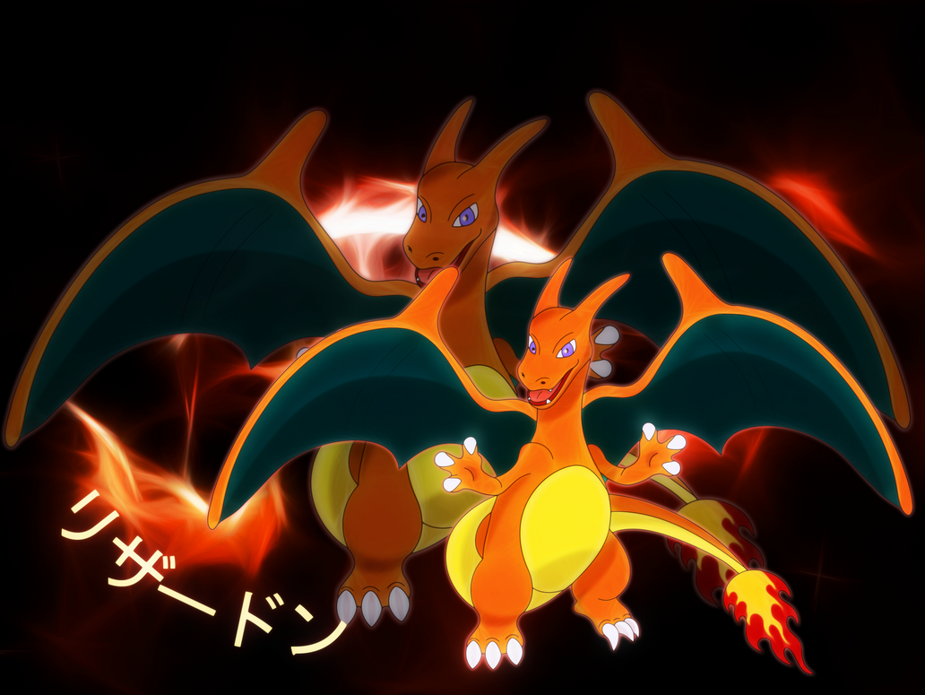 charizard wallpaper version 3 by elsdrake on deviantart