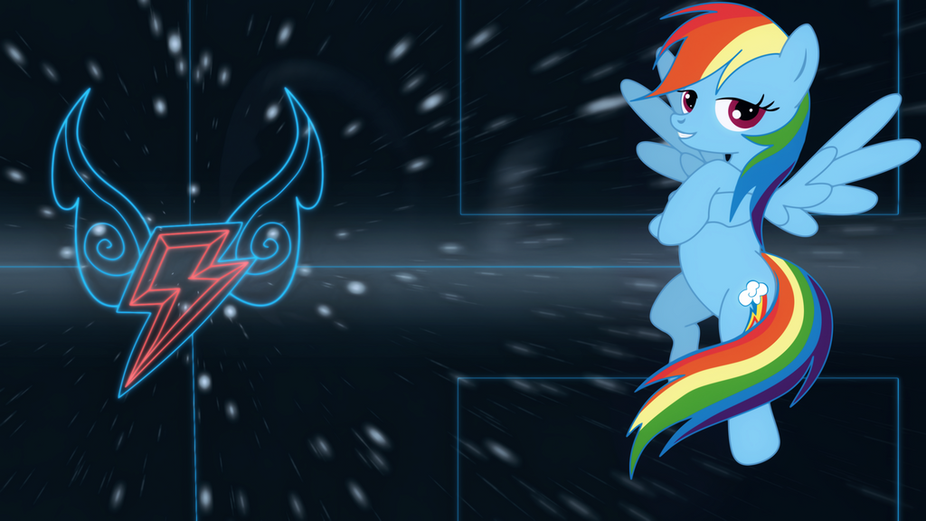 Rainbow Dash element wallpaper by Elsdrake