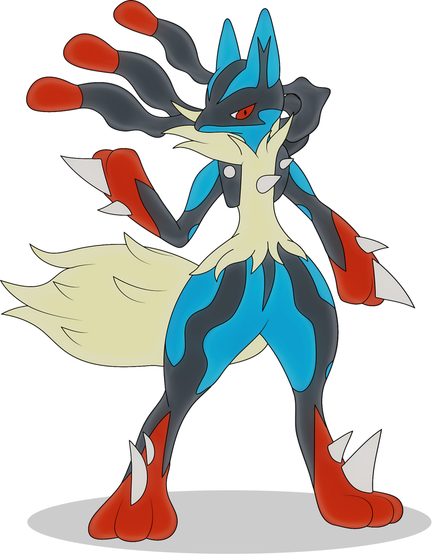 Pokemon coloring pages of mega lucario - Mega Lucario By Elsdrake Mega Lucario By Elsdrake