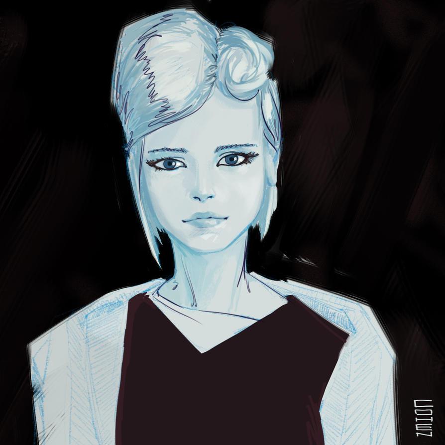 Girl in black by CohenR