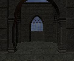 Castle Keep Interior Bkgd 3D 1