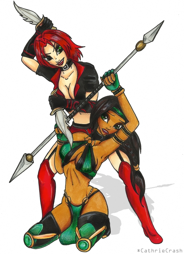 + MKD - Kira vs Jade + by Cathrie-Crash