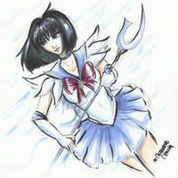 _Sailor Saturn_ marker sketch _